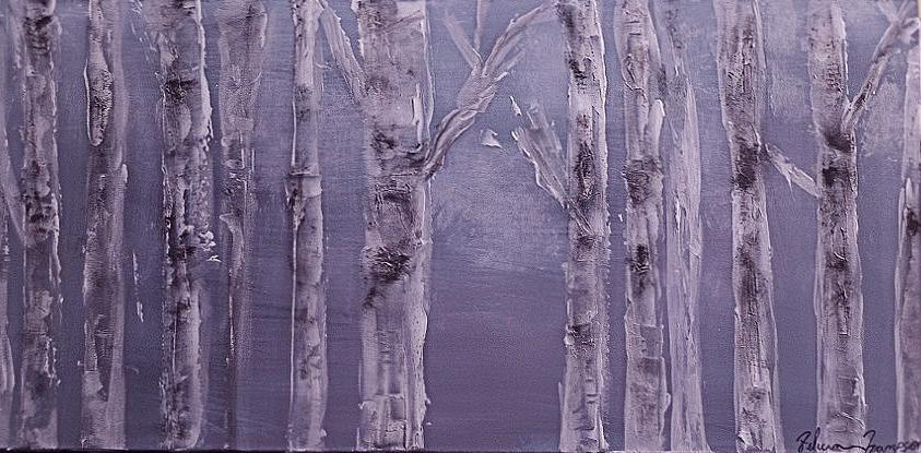 Grey Birch Trees
